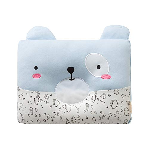Babykissen Waschbare Babykopfkissen Gegen Kopfverformung Kinderkissen Bio-Baumwolle Baby Pillow Memory Schaum Babykopfkissen Vorsorge Der Plagiozephalie Unisex Anti-Plattkopf-Kissen -