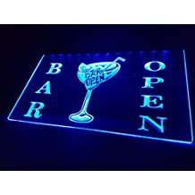 LED Bar OPEN Cartel nuevo Cartel Cargar Reklame Neon Neon Cartel Pub Bar Discoteca cócteles