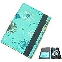 aufklappbare eBook Reader eReader Hülle Pusteblume türkis, Maßanfertigung, z.B. Kindle Paperwhite