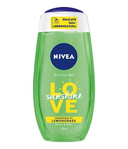 NIVEA, Duschgel, Love Sunshine, 6 Packungen à 250 ml, insgesamt: 1500 ml. Zitronengras -