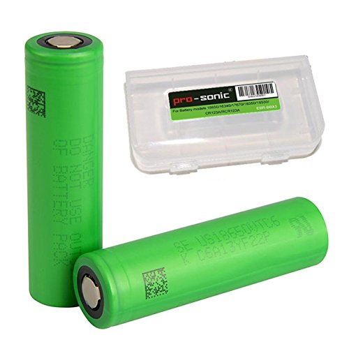 Preisvergleich Produktbild Pro-sonic 2x US 18650 VTC6 INR 18650 Akku Accu batterien (3000mAh/3,7V/30A/Li-Ion) 18650 Akkus für Elektronische Zigarette