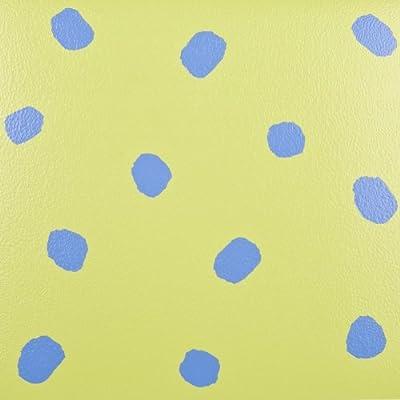 11x Vinyl Tiles Commercial Heavy Duty Flooring - Blue Dots - 1m2 - inexpensive UK light store.