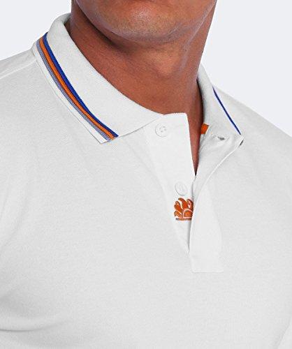 Sundek Herren Pique Polo-Shirt von brice Weiß Weiß