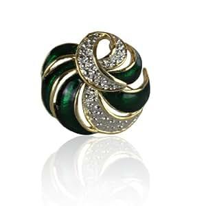 Nouveau Bijou Spécial Cadeau Magnifique Charmant Derviche Tourneur Vert Émail Pin Broche Belle avec l'une de nos Écharpes ou comme Cadeau