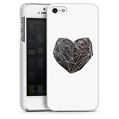 Apple iPhone 5s Housse Étui Protection Coque Amour Amour C½ur CasDur blanc