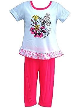 Süßes Mädchen Set Longshirt + Leggings in tollen Sommerfarben K216e