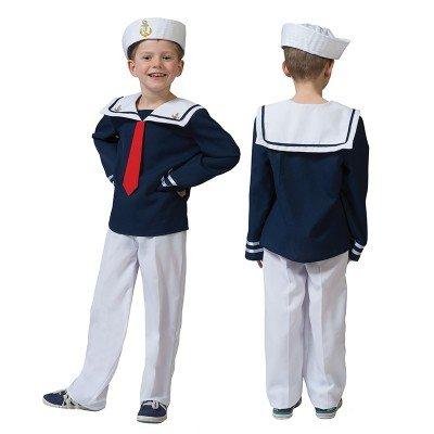 Matrosen Kinder Kostüm - Kostüm Sailor Malte Kind Größe 116 Kinderkostüm Jungenkostüm Matrose Marine Seemann Pierro's Kostüm