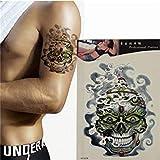 Skull Tattoo Stickers Waterproof Temporary Removable Skeleton Transfer Tattoos