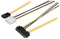 Bandridge Bcl9801Sata Data Combination Cable 6Gbs 4Pin Molex Connector 1M Yellow
