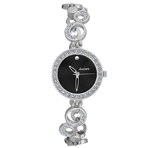 Austere ELLEN Analog Black Dial Women's Watch - WEL-0707  available at amazon for Rs.949