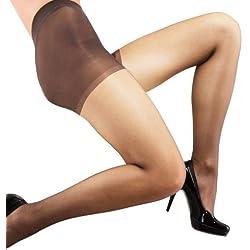 Couture Medias de Denier 10 moldeadoras para mujer (L - 168-179cm/Carne)