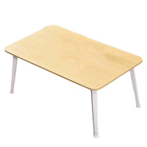 Table pliante LXF Rehauts Pliage Table À Base de Bois Panneaux Matériel Ordinateur Portable Bureau Auberge Apprendre Simple Moderne 80 * 50 * 36 cm (Couleur : White Oak Color)