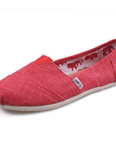 Chaussures Femme Shangyi - Mocassins - Loisirs / Travail Et Détente / Travail - Confortable - Plat - Corde - Bleu / Rouge / Beige Rouge