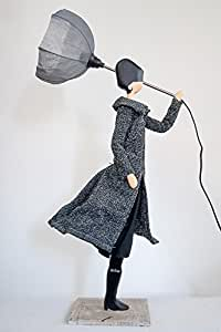 asley trendige tischlampe design skitso leuchte deko dekofigur lampe figur m licht 85cm. Black Bedroom Furniture Sets. Home Design Ideas