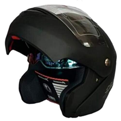 Modularer Motorradhelm Hochklappbarer Motorradhelm mit innerer Sonnenblende Sicherheit Doppelscheibe Racing Integralhelme Mountainbike Motocross-Schutzkappen -