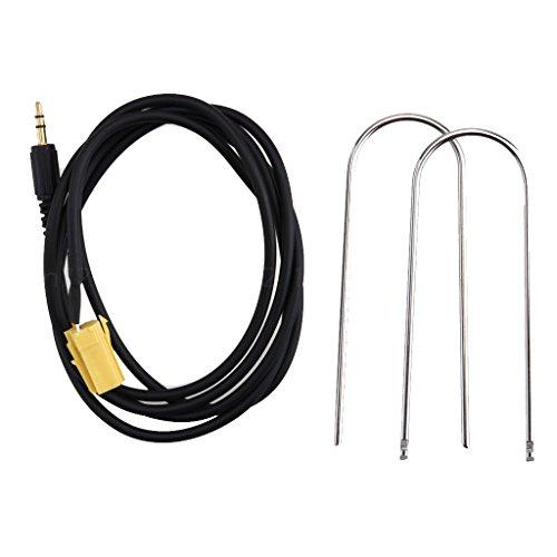 Gazechimp 3,5mm 1,5 M AUX Line in Adapter Kabel Interface Audiokabel Für Fiat Grande Punto Mp3 (Reparatur Cd-player)