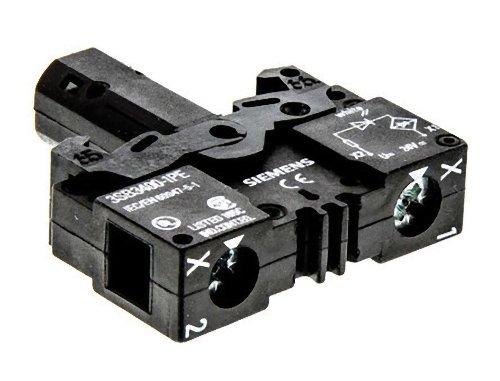 Siemens Indus.Sector Lampenfassung 3SB3400-1PE Mit LED UC24V ws 3SB3 Lampenfassungsblock für Befehls- und Meldegeräte 4011209501300