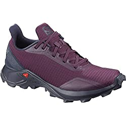 Salomon ALPHACROSS W, Zapatillas de Trail Running para Mujer, Morado Potent Purple Navy Blazer India Ink, 38 EU