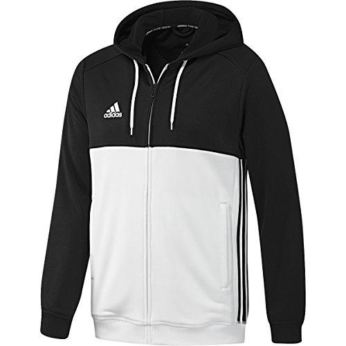 adidas Herren Hoody T16 Schwarz / Weiß