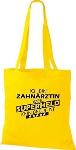 Tote Bag Shirtstown Sono Un Dentista Perché Il Supereroe Non Ha Una Professione Doro Giallo