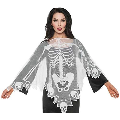 Hongma Skelett Umhang Halloween-Kostüm aus Spitze112cm für