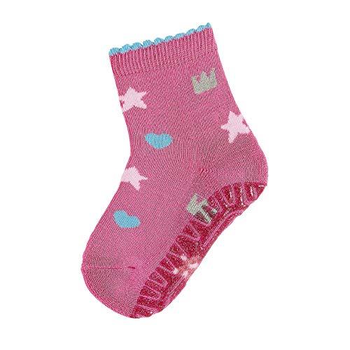 Sterntaler Baby - Mädchen Socken, Glitzer Flitzer Air, Rosa (Orchidee), 17-18 -