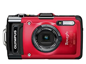 Olympus Stylus TOUGH TG-2 Digital Compact Camera - Red (12MP, 4x Wide Optical Zoom) 3 inch OLED