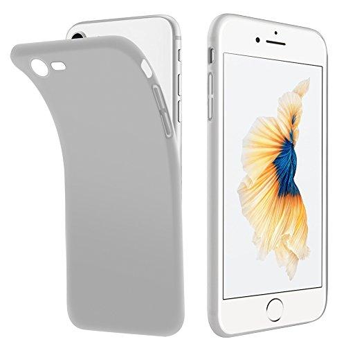 Vkaiy iPhone 7 iPhone 8 Hülle, iPhone 8 iPhone 7 Schutzhülle, Kratzfeste Soft TPU Case Anti-Rutsch Anti-Fingerabdruck Handyhülle,Ultra Dünnes Silber Case Bumper für iPhone 7 iPhone 8 (4,7