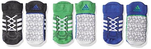adidas Baby Infinitex 3 Pair Pack Socken, Blue/Dark Grey Heather/Energy Green, EU 27-30 - Blue Green Heather