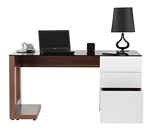 Alphason Sorbonne Walnut Executive Workstation