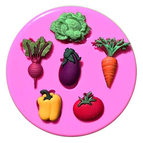Fairie Blessings Silikonform für Schrebergsalat, Karotte, Tomaten, Paprika, Rote Beete, Rettich, Aubergine