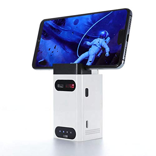 MLCJR Soporte para teléfono y Banco de energía, Proyección inalámbrica Bluetooth Teclado Virtual y Mouse Virtual, para iPhone, iPad, Smartphone y Tablets