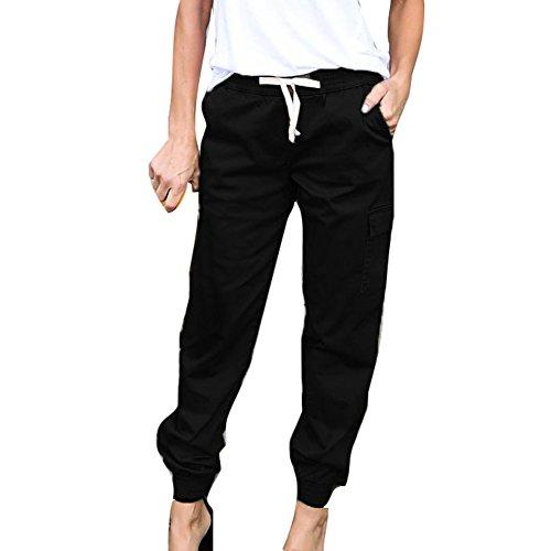 Mujer Pantalones Lápiz - Color Sólido Cintura Elástico