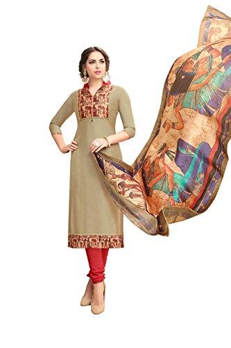 Rose Petals Cotton Silk Un stitched Digital Printed salwar suit for women...