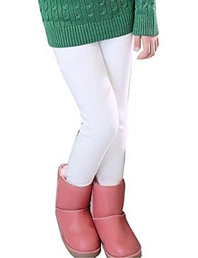 Niña En Mallas Leggings Puntos Elástico Pantalones Plus Espesamiento Leggins Blanco 120CM