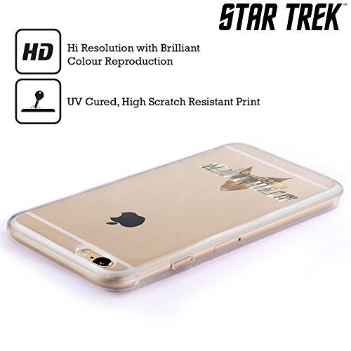 Ufficiale Star Trek Delta 2 Discovery Logo Cover Morbida In Gel Per Apple iPhone 6 / 6s Con Scudo 2