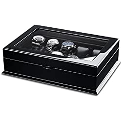 Hermann Jäckle Villingen Watch Box for 10 Watches With Glass Window – Back