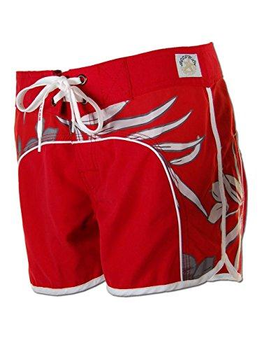 SEESTERN Damen Boardshorts Surfshorts Boardshort Surf Short Bade Shorts XS-XXL Rot XL
