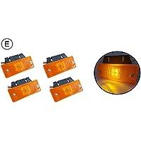 4x 4SMD LED 24V Giallo luci di posizione luci d' ingombro staffe di montaggio - Camion Staffa Di Montaggio