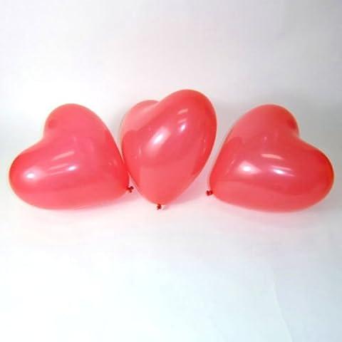 """Generic QY-UK-1 4-16FEB 20-3780 ******, 5795 per palloncini feste e matrimoni, scritta """"LOVE"""", colore: rosso cuore, L, 100 pezzi 100 pezzi, colori: rosso, RT, compleanno, San Valentino, motivo romantico lentines irthday di compleanno"""