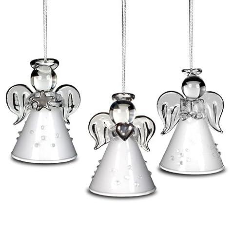 SIKORA BS155G Décorations anges de noël à accrocher au sapin 3 pièces