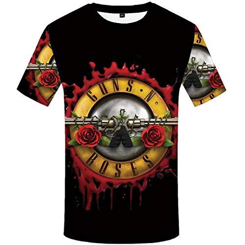 Hohe Qualität T-shirt (ZCYTIM Pistolen T Hemd Band Tops Guns N Roses Kleidung T-Shirt Shirts Tees Männer Lustige Hip hop sexy Hohe Qualität)