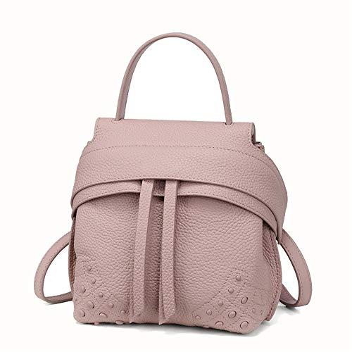 LXYFMS Mode Kuhfell Sitzsack Umhängetasche Schultertasche Damen Handtasche (Farbe : Pink)