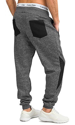 Uomini pantaloni da jogging Sweat Pant Sport biker harem H1649 Grigio