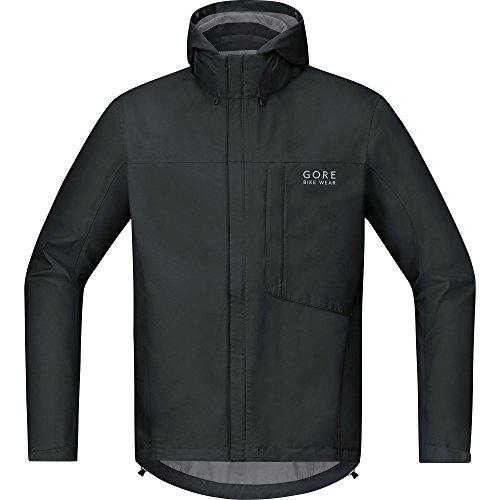 GORE BIKE WEAR Chaqueta para ciclismo en carretera o MTB, Hombre, Ligera, GORE-TEX, Paclite Jacket, Talla L, Negro, JGELMP990005