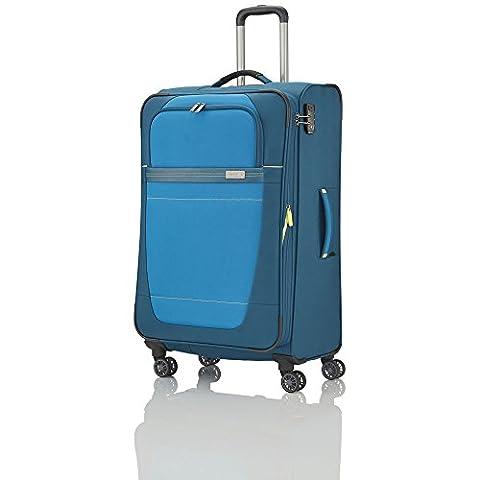 """Travelite Valise trolley """"Meteor"""" avec 4 roues Taille L pétrole Koffer, 77 cm, 105 liters, Blau (Pétrole)"""