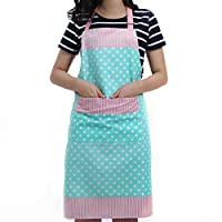 Ladies Apron with Pocket, Tukistore Sleeveless Apron Cotton Apron BBQ Apron Bib Apron Flirty Aprons for Women Cook, Cupcake, Cafe and Waitress