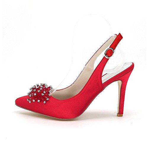 L@YC Womens Wedding Chaussures à talons hauts après la pointe de fines chaussures de mariage fines Custom Multi-Color Large Yards Champagne