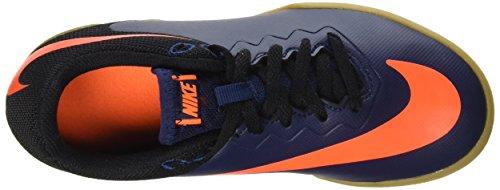Nike Jr Hypervenomx Pro Ic, Scarpe da Calcetto Unisex – Bambini Blu (Mid Nvy/Ttl Orng/Blk/Gm Lght B)
