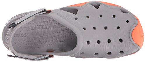 crocs Herren Swiftwater Clog M Smoke/Tangerine